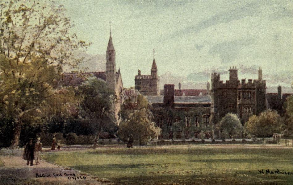 Artistic Colored Views of Oxford - Ballion College Quad, Oxford (1900)