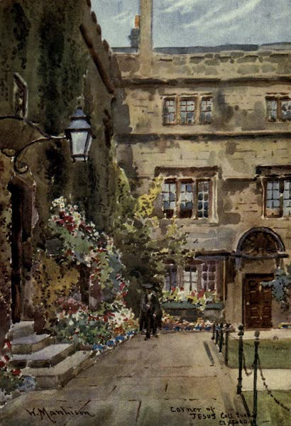 Artistic Colored Views of Oxford - Corner of Jesus College Quad, Oxford (1900)