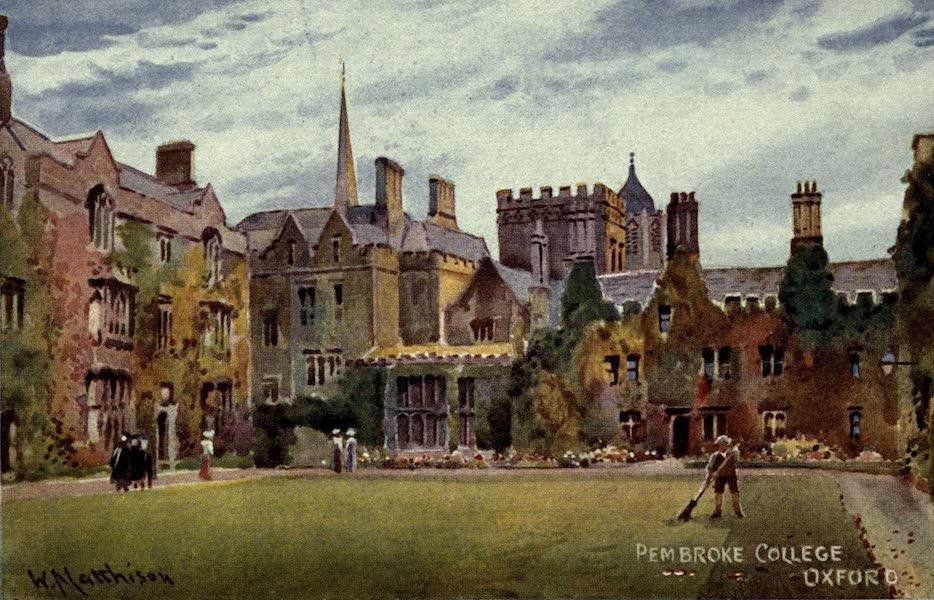 Artistic Colored Views of Oxford - Pembroke College, Oxford (1900)