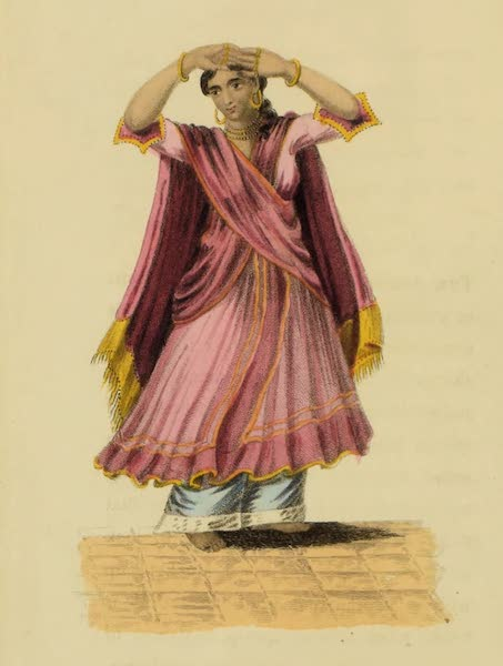 Asiatic Costumes - A Nantch Girl, or Singing Girl [II] (1828)