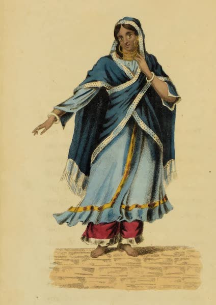 Asiatic Costumes - A Nantch Girl, or Singing Girl [III] (1828)