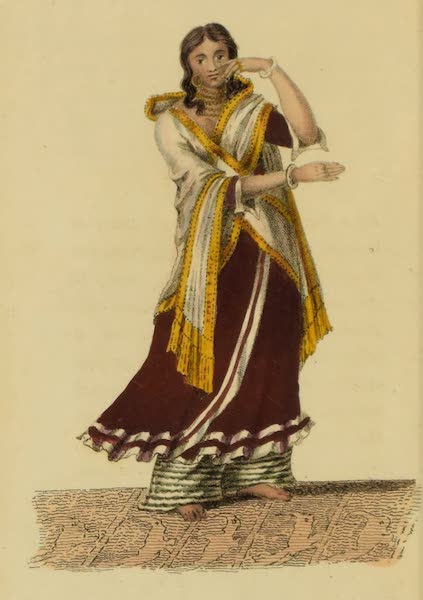 Asiatic Costumes - A Nantch Girl, or Singing Girl [IV] (1828)