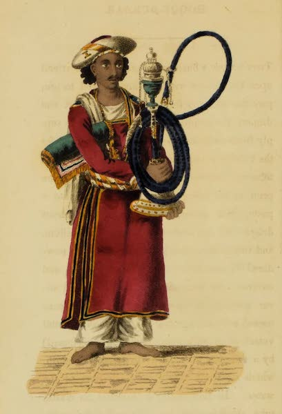 Asiatic Costumes - Hoqqu-burdar, or Pipe-bearer (1828)