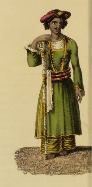 Asiatic Costumes - Chob-dar, or Mace bearer (1828)