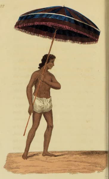 Asiatic Costumes - Ch-hata-wala, or Umbrella carrier (1828)