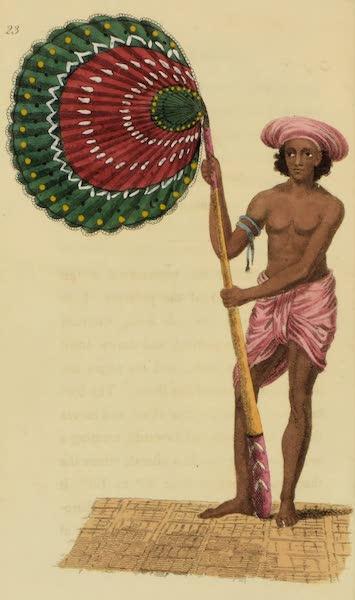 Asiatic Costumes - Barburdar, or Fan-bearer (1828)