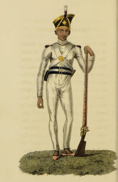 Asiatic Costumes - Sepoy, or Native Soldier (1828)