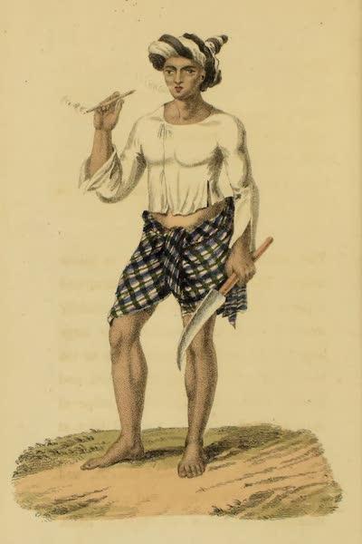 Asiatic Costumes - A Burmese Man (1828)