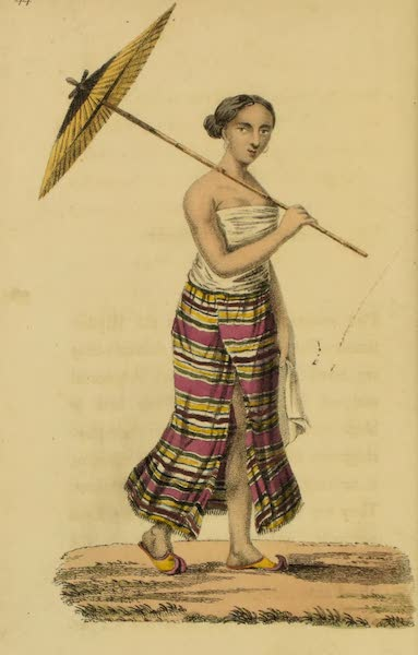Asiatic Costumes - A Burmese Woman (1828)