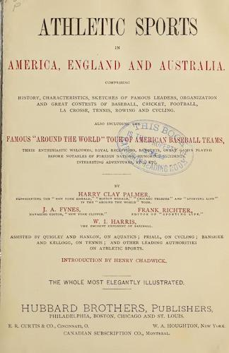 English - Athletic Sports in America, England and Australia