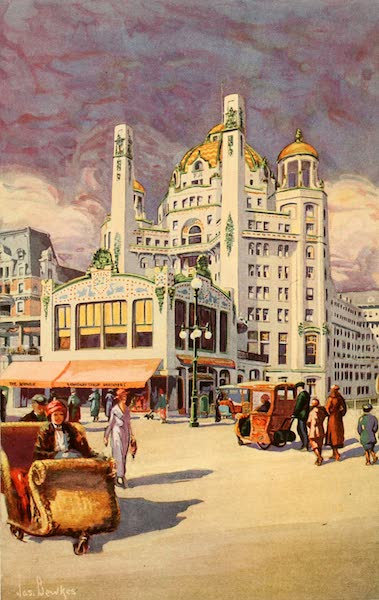 Atlantic City, the World's Play Ground - At the Entrance of the Marlborough-Blenheim (1922)