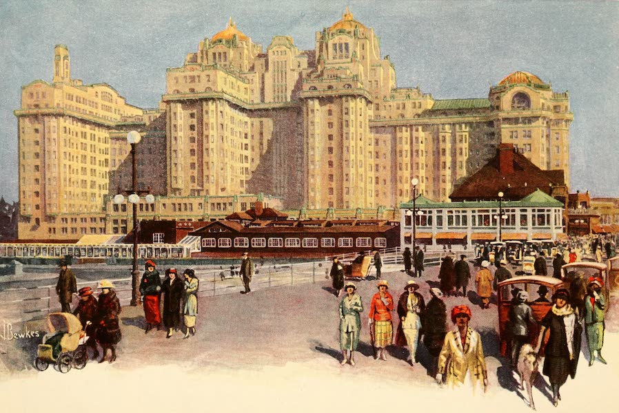 Atlantic City, the World's Play Ground - Midwinter Scene Showing the Traymore Hotel (1922)