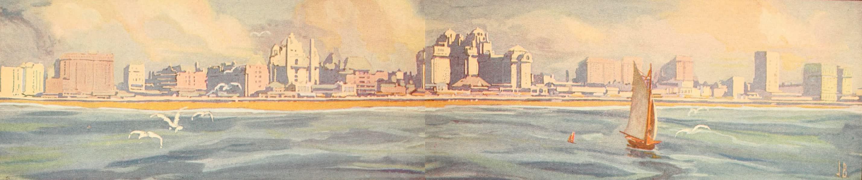 Atlantic City, the World's Play Ground - Panoramic View of Atlantic City from the Oceanariumn (1922)