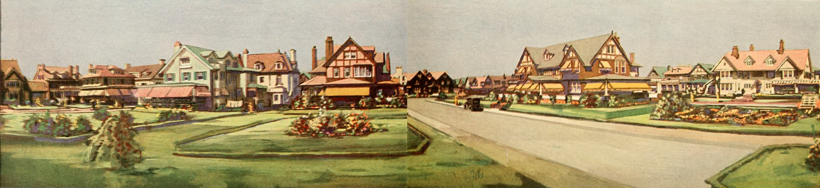 Atlantic City, the World's Play Ground - Panoramic View of One of Atlantic City's Many Beautiful Residential Sections (1922)