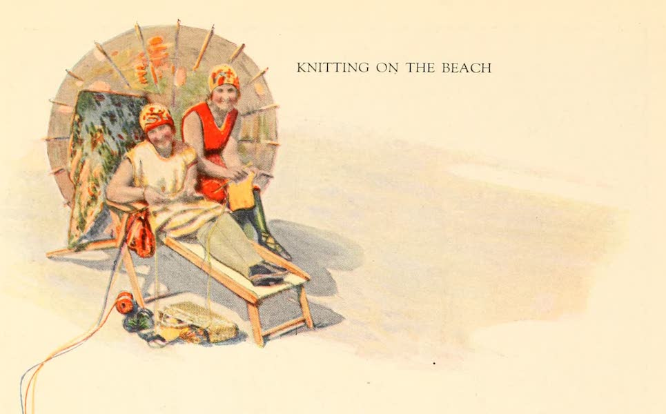 Atlantic City, the World's Play Ground - Knitting on the Beach (1922)