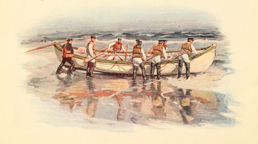 Atlantic City, the World's Play Ground - Men Launching a Canoe (1922)
