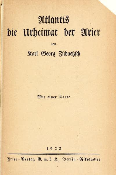Atlantis, die Urheimat der Arier - Title Page (1922)