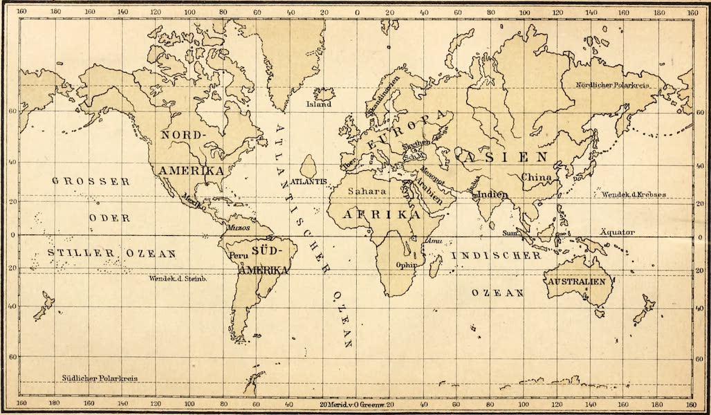 Atlantis, die Urheimat der Arier - World Map with Atlantis (1922)