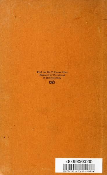 Atlantis, die Urheimat der Arier - Back Cover (1922)