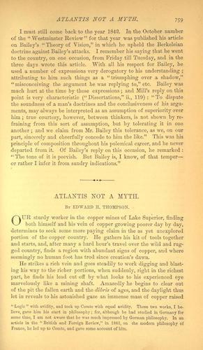 Atlantis Not a Myth (1879)