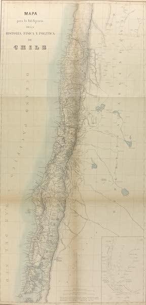 Atlas de Historia fisica y Politica de Chile Vol. 1 - Mapa para la Inteligencia de la Historia, Fisica, y Politica de Chile (1854)