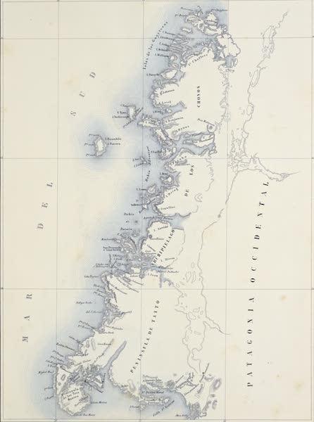 Atlas de Historia fisica y Politica de Chile Vol. 1 - Archipielago de los Chonos No. 1 (1854)
