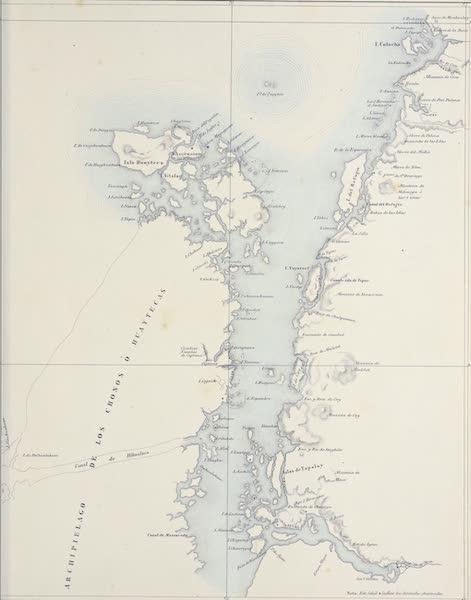 Atlas de Historia fisica y Politica de Chile Vol. 1 - Archipielago de los Chonos No. 2 (1854)