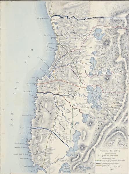 Atlas de Historia fisica y Politica de Chile Vol. 1 - Mapa de Chile (1854)