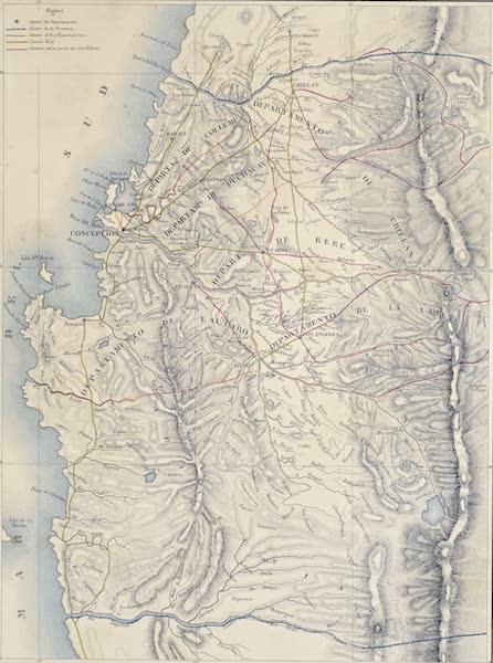 Atlas de Historia fisica y Politica de Chile Vol. 1 - Provincia de Concepsion (1854)