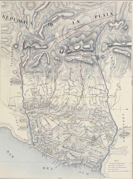 Atlas de Historia fisica y Politica de Chile Vol. 1 - Provincia de Cauquenes (1854)