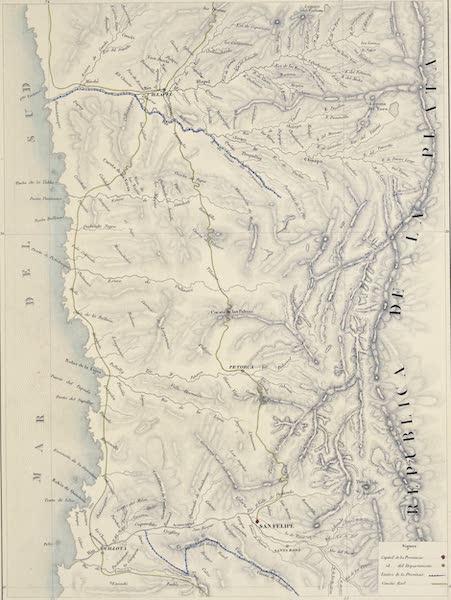 Atlas de Historia fisica y Politica de Chile Vol. 1 - Provincia de Aconcaqua (1854)