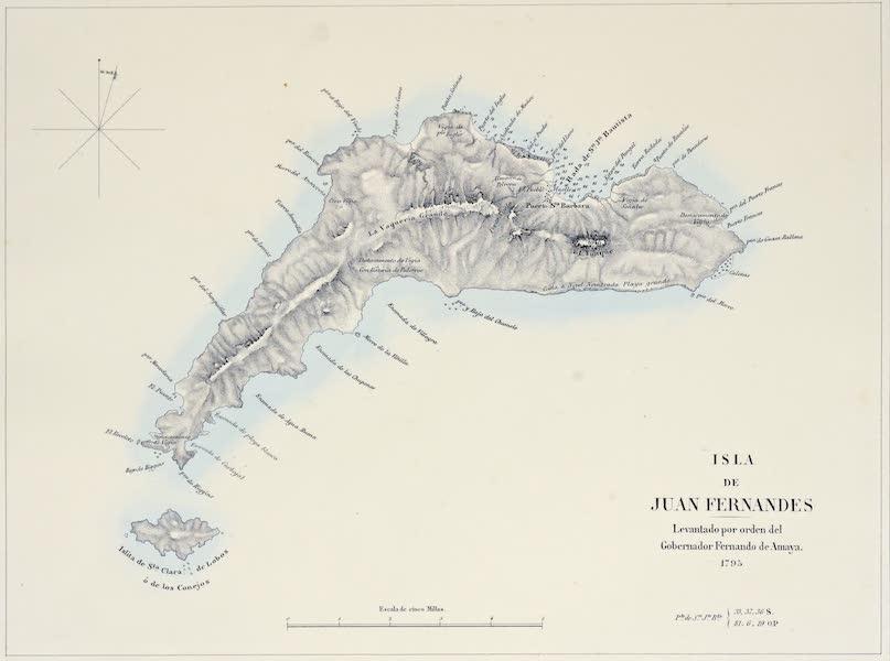 Atlas de Historia fisica y Politica de Chile Vol. 1 - Isla de Juan Fernandes (1854)