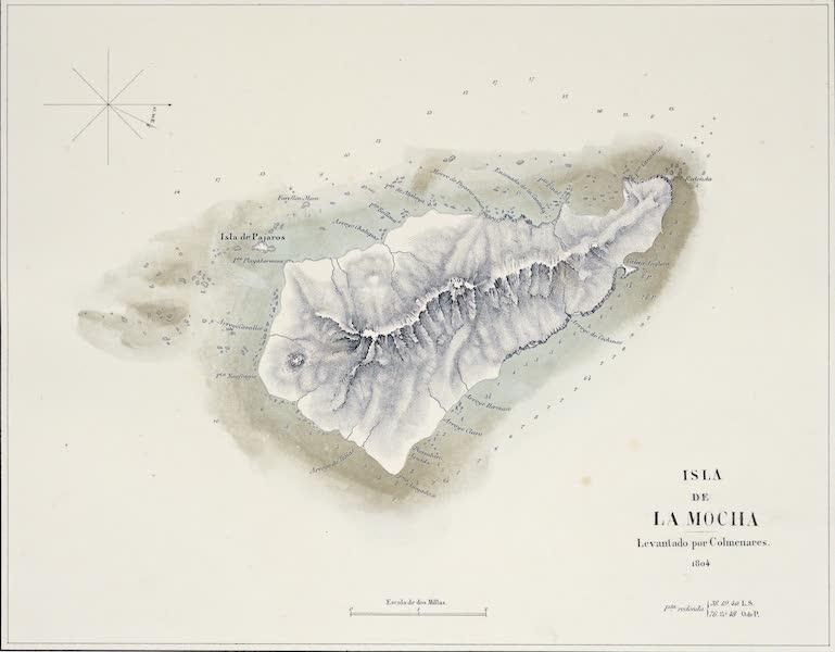 Atlas de Historia fisica y Politica de Chile Vol. 1 - Isla de la Mocha (1854)