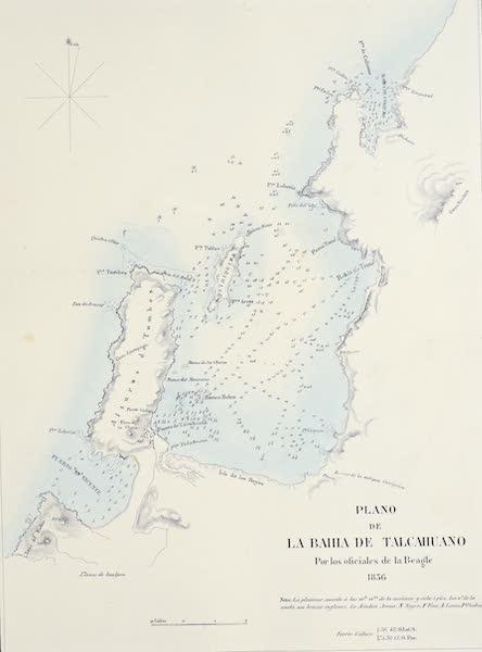 Atlas de Historia fisica y Politica de Chile Vol. 1 - Plano de la Bahia de Talcahuano (1854)