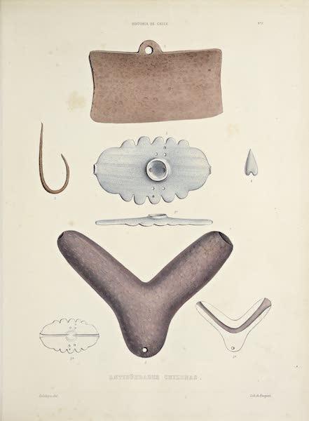 Atlas de Historia fisica y Politica de Chile Vol. 1 - Antiguedades Chileanas [I] (1854)