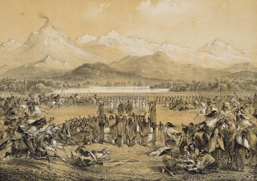 Atlas de Historia fisica y Politica de Chile Vol. 1 - Entierro del Cacique Cathiji en Guaneque Mayo, 1835 (1854)