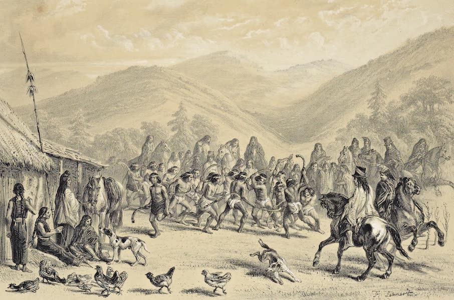 Atlas de Historia fisica y Politica de Chile Vol. 1 - Juego de Chueca Entre los Aracuanos (1854)