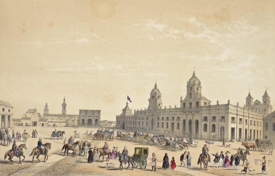 Atlas de Historia fisica y Politica de Chile Vol. 1 - Plaza de la Independencia (Santiago) (1854)