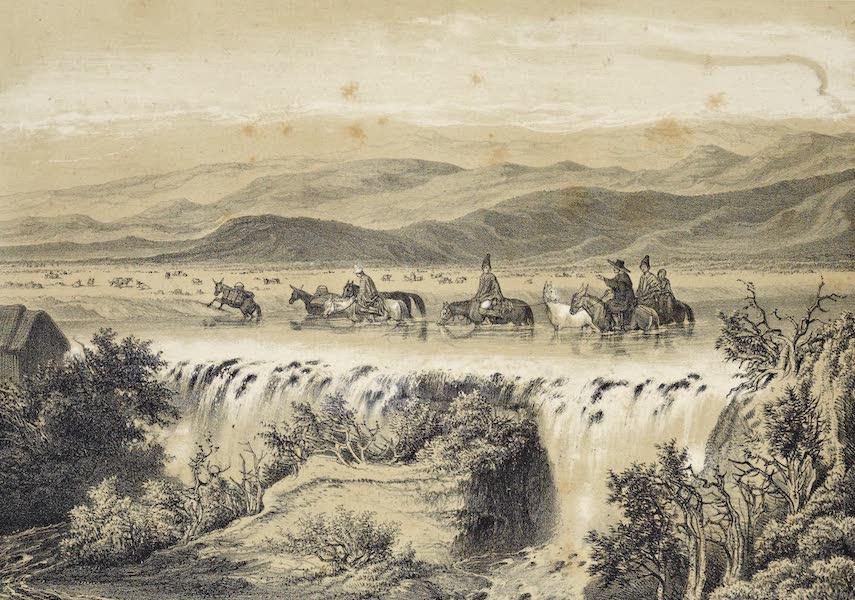 Atlas de Historia fisica y Politica de Chile Vol. 1 - Salto de la Laja (1854)