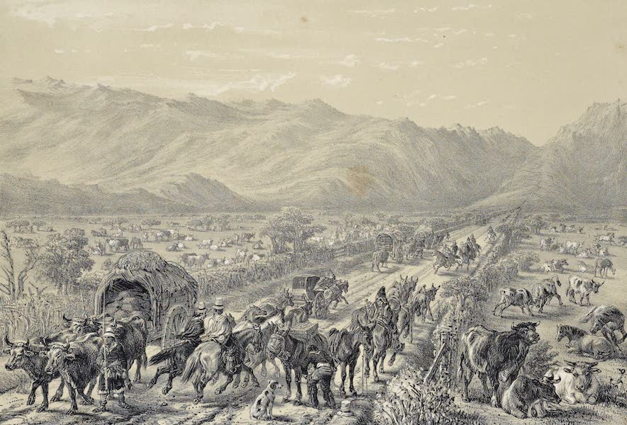 Atlas de Historia fisica y Politica de Chile Vol. 1 - Camino de Valparaiso a Santiago (1854)
