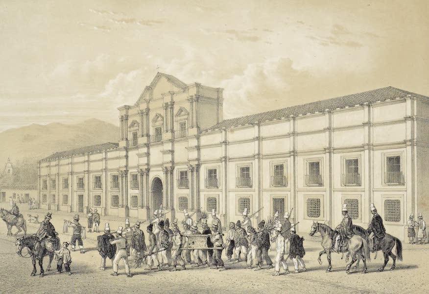 Atlas de Historia fisica y Politica de Chile Vol. 1 - Casa de Moneda de Santiago y Presos de la Policia (1854)