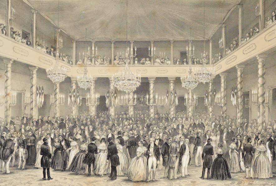 Atlas de Historia fisica y Politica de Chile Vol. 1 - Un Baile en las Casa del Gobierno (Aniversario de la Independence - 18 Septiembre) (1854)