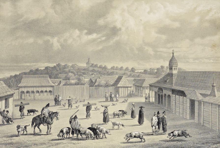 Atlas de Historia fisica y Politica de Chile Vol. 1 - Plaza de San Carlos de Chile (1835) (1854)