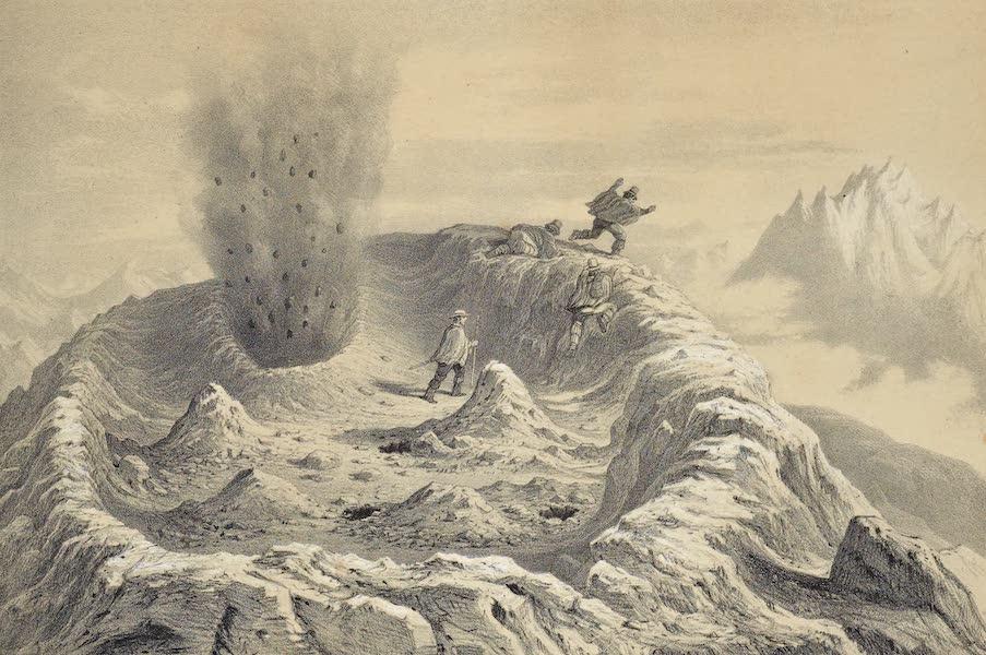 Atlas de Historia fisica y Politica de Chile Vol. 1 - Vista al Volcan d'Antuco al Momento de una Erupcion de Gaz (1854)