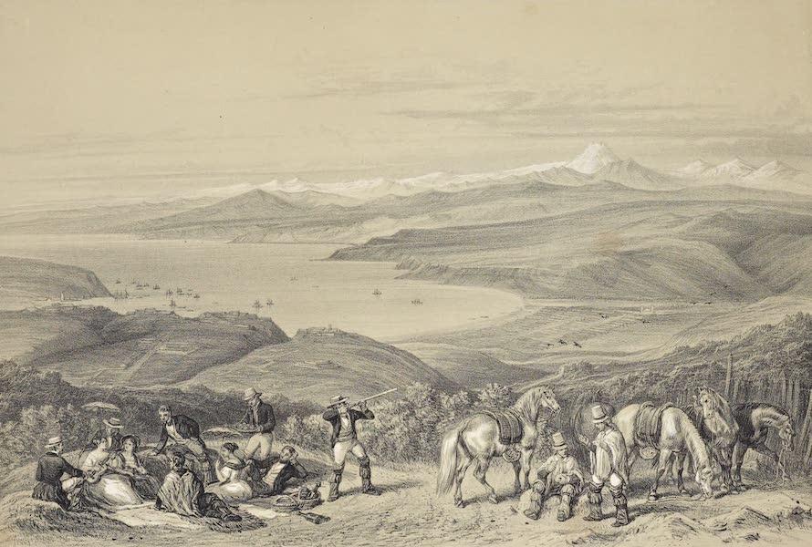 Atlas de Historia fisica y Politica de Chile Vol. 1 - Vista del Pico de Aconcaqua (Sacada de los Altos de Valparaiso) (1854)