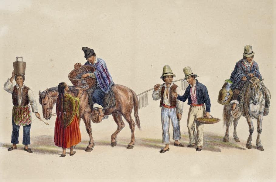 Atlas de Historia fisica y Politica de Chile Vol. 1 - Vendedores en las Calles (Helader, Brevero, Dulcero, Lechero) (1854)