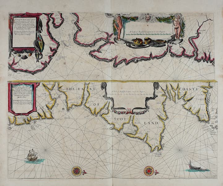 A chart of the north coast of England, from Yarmouth to Cocket Island -- A description of the east coast of Scotland