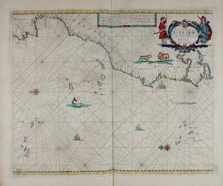 A chart of the coasts of Barbarie, Gualata, Arguyn & Genehoa from C. Vincent to C Verd.