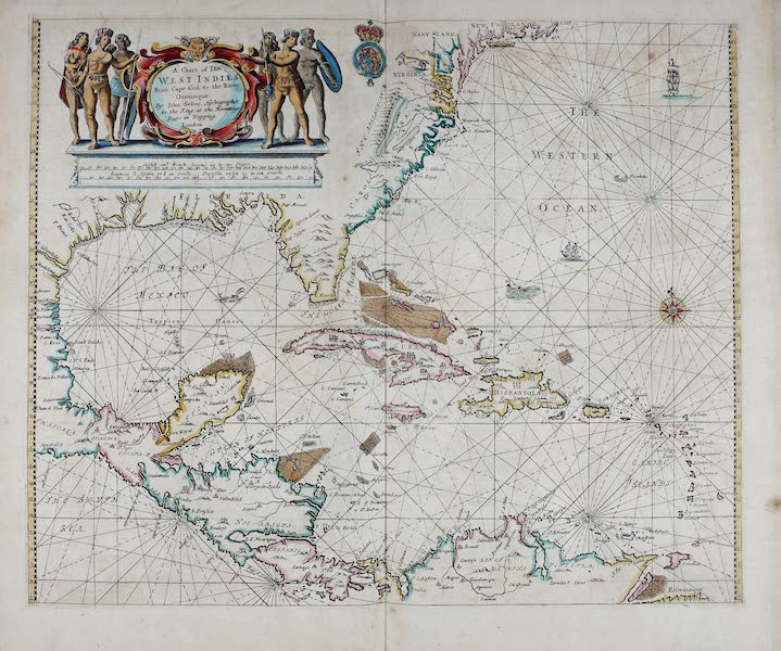 A chart of the West Indies from Cape Cod to the river Oronoque