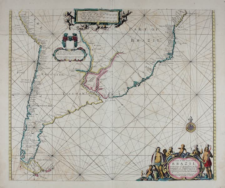 A chart of the sea coast of Brazil from Cape St. Augustine to the straights of Magellan